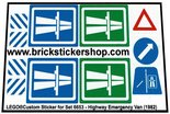 Precut-Replica-Sticker-for-Lego-Set-6653-Highway-Emergency-Van-(1982)