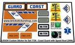 Precut-Replica-Sticker-for-Lego-Set-7726-Coast-Guard-Truck-with-Speed-Boat-(2008)