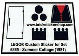 Precut-Replica-Sticker-for-Lego-Set-6365-Summer-Cottage-(1981)