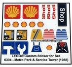 Precut-Replica-Sticker-for-Lego-Set-6394-Metro-Park-&-Service-Tower-(1988)