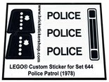 Precut-Replica-Sticker-for-Lego-Set-644-Police-Patrol-(1978)