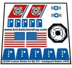 Precut-Replica-Sticker-for-Lego-Set-575-Coastguard-Station-(1978)