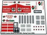 Precut Replica Sticker for Lego Set 5563 - Racing Truck (1999)_