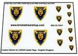 Precut Custom Stickers for Lego  Kingdom Flags_