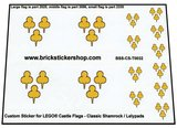 Precut Custom Sticker for Lego Classic Shamrock Lelypads Flags_