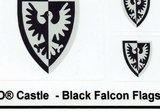 Precut Custom Stickers for Lego Black Falcon Flags_