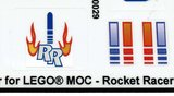 Precut Replica Sticker for Lego MOC Rocket Racer_