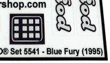 Ersatz Pre-Cut Aufkleber//Sticker für LEGO 5541 Model Team Blue Fury 1995