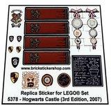 Precut Replica Sticker for Lego Set 5378 - Hogwarts Castle (3rd Edition, 2007)_