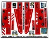 Precut Custom Replacement Stickers for Lego Set 8077 - Atlantis Exploration HQ (2010)_