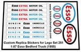 Set 251 - 1-87 Esso Bedford Truck (1956) Sticker