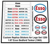 Set 1250 - 1-87 Esso Bedford Tanker (1960) Sticker