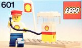 Precut Custom Replacement Stickers for Lego Set 601 - Shell Gas Pump (1978)_