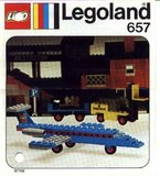 Precut Replica Sticker for Lego Set 657 - Executive Jet (1974)_