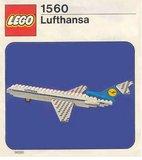 Precut Replica Sticker for Lego Set 1560 - Lufthansa Boeing 727 (1976)_