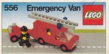 Precut Custom Replacement Stickers for Lego Set 556 - Emergency Van (Fire)(1979)_