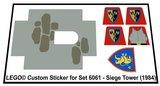 Precut Replica Sticker for Lego Set 6061 - Siege Tower (1984)_
