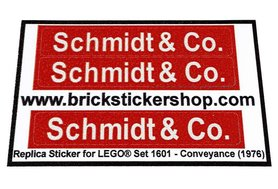 Precut Custom Replacement Stickers for Lego Set 1601 - Conveyance (1976)