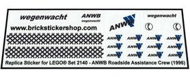 Precut Custom Replacement Stickers for Lego Set 2140 - ANWB Roadside Assistance Crew (1996)