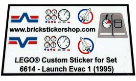 Precut Custom Replacement Stickers for Lego Set 6614 - Launch Evac 1 (1995)