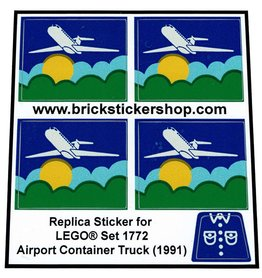 Precut Custom Replacement Stickers for Lego Set 1772 - Airport Container Truck (1991)