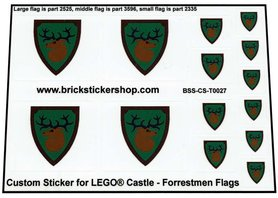 Precut Custom Stickers for Lego Forrestmen Flags