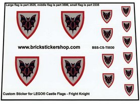 Precut Custom Stickers for Lego Fright Knight Flags