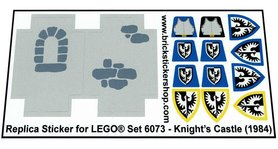 Precut Custom Replacement Stickers for Lego Set 6073 - Knight's Castle (1984)