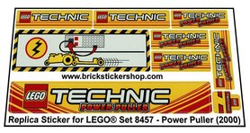 Precut Custom Replacement Stickers for Lego Set 8457 - Power Puller (2000)