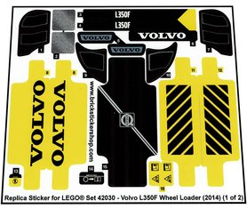 Precut Custom Replacement Stickers for Lego Set 42030 - Volvo L350F Wheel Loader (2014)