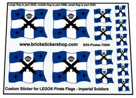 Precut Custom Sticker for Pirates Imperial Soldiers Flags