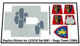 Precut Custom Replacement Stickers for Lego Set 6061 - Siege Tower (1984)
