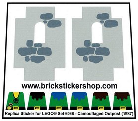 Precut Custom Replacement Stickers for Lego Set 6066 - Camouflaged Outpost (1987)