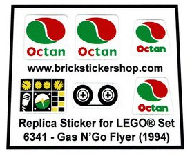 Precut Custom Replacement Stickers for Lego Set 6341 - Gas N'Go Flyer (1994)