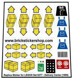 Precut Custom Replacement Stickers for Lego Set 6377 - Delivery Center (1985)