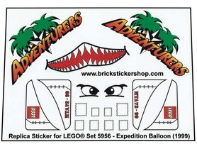 Precut Custom Replacement stickers for Lego set 5956 - Expedition Balloon (1999)