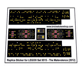 Precut Custom Replacement Stickers for Lego Set 9515 - Malevolence (2012)