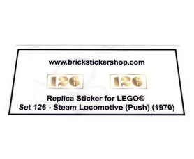 Precut Custom Replacement Stickers for Lego Set 126 - Steam Locomotive (Push) (1970)
