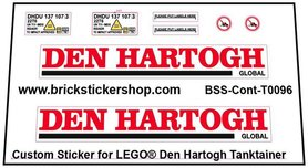 Precut Custom Stickers voor LEGO Rebrickable MOC 57949 - Den Hartogh Tanktainer