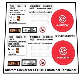 Precut Custom Stickers voor LEGO Rebrickable MOC 57949 - Eurotainer Tanktainer