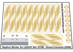 Precut Custom Replacement Stickers for Lego Set 10196 - Grand Carousel (2009)