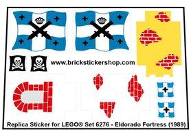 Precut Custom Replacement Sticker for LEGO Set 6276 - Eldorado Fortress (1989)