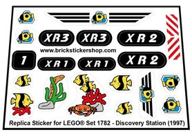 Precut Custom Replacement Stickers for Lego Set 1782 - Discovery Station (1997)