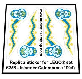 Precut Custom Replacement Sticker for LEGO Set 6256 - Islander Catamaran (1994)
