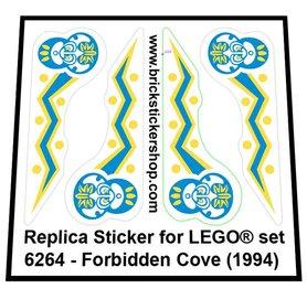 Precut Custom Replacement Sticker for LEGO Set 6264 - Forbidden Cove (1994)