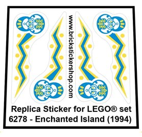 Precut Custom Replacement Sticker for LEGO Set 6278 - Enchanted Island (1994)