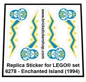 Precut Custom Replacement Sticker for LEGO Set 6278 - Enchanted Island (1994)