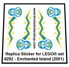 Precut Custom Replacement Sticker for LEGO Set 6292 - Enchanted Island (2001)