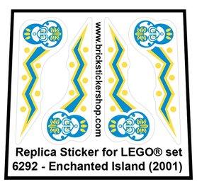 Precut Custom Replacement Sticker for LEGO Set 6292 - Enchanted Island (2001)