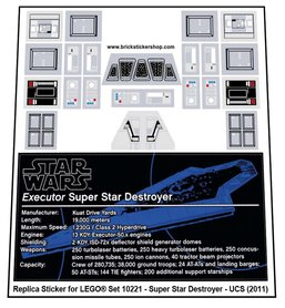 Precut Custom Replacement Stickers for Lego Set 10221 - Super Star Destroyer (UCS) (2011)